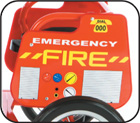 Tandem Tricycle Fire Brigade Themed Sideplates